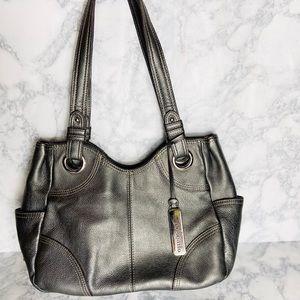 Metallic Leather Tignanello Handbag